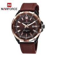 2018 New NAVIFORCE Brand Men Quartz Watches Leatehr Waterproof Analog Watches Mens Date Casual Clock Rome