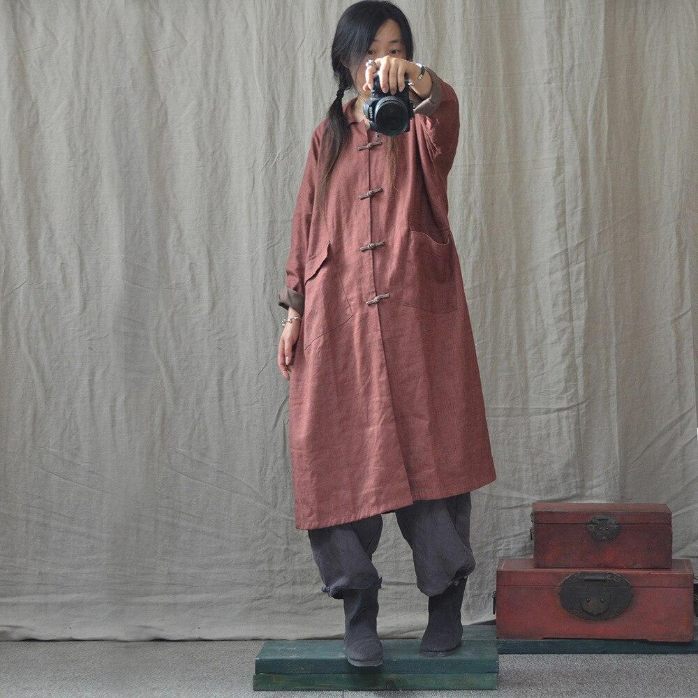 Rétro Couleur Manteau La Down Tranchée Col Manteaux Pardessus Outwear Automne Femmes Solide Patchwork Vintage Main Bouton Turn Femme Noir orange À kXZwOiuPT