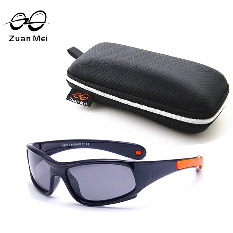 New Top Quality Kids TAC Polarized Kids Sunglasses UV400 Boy/Girls Cool TR90 Rubber Summer Tour Glasses Eyewear ZM8810