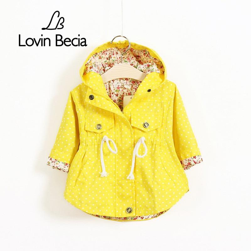 LovinBecia Toddler Girls Jackets Coats Autumn Pretty Outdoor Windbreaker Children Cute Sport Coats Hooded Outerwear kid Clothing