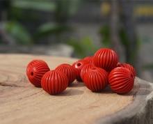 8mm/10mm/12mm Cinnabar Beads Stripe Red Bead Mala Beads Japa Mala Bracelet Jewellry Findings DIY Accessories