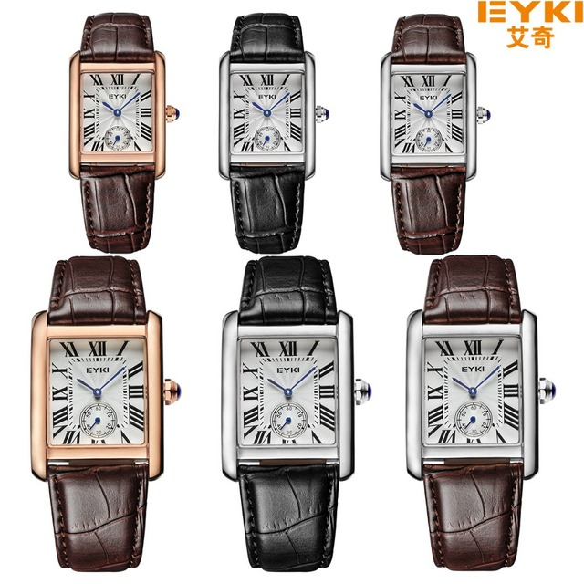 Hot Sale Eyki Genuine Leather Strap Couple Watches