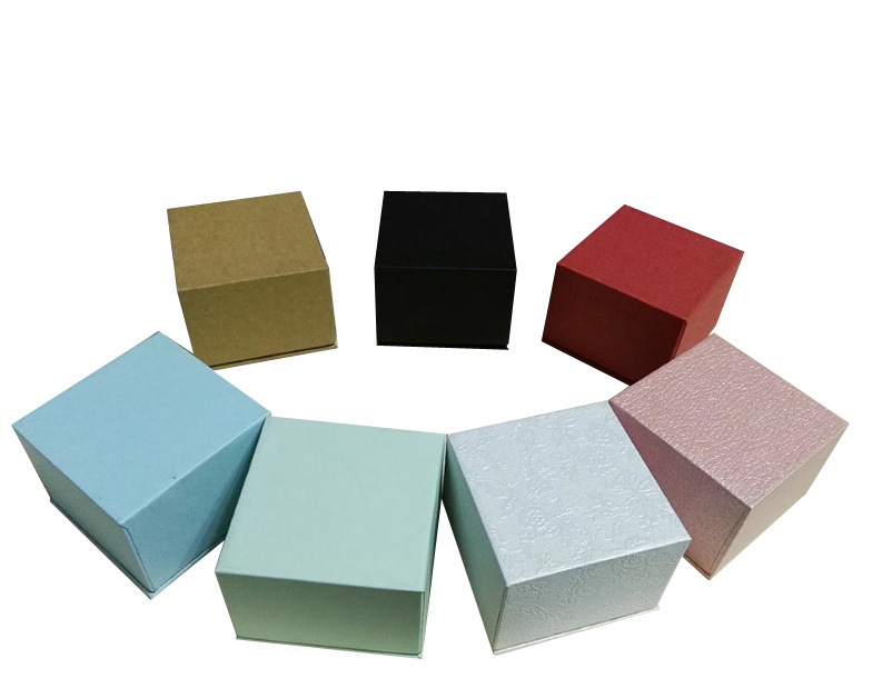 Fancy Ring Box Lid and base Jewelry Packaging Wholesale 80pcs/lot Free shipping Earring Packing