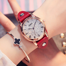 JBAILI Women Watches Relogios Feminino Rhinestone Dial Quartz Luxo Female Leather Wristwatch Montre Femme