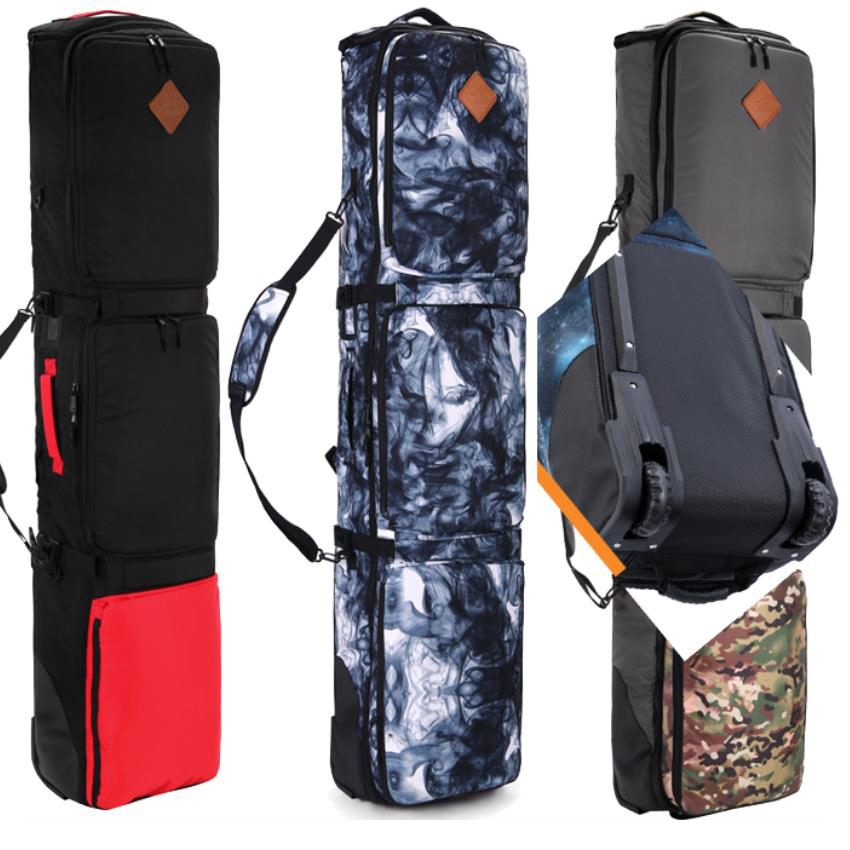 152 160 165 175cm SnowBoard Bag With Wheels quality thick material big capacity holing 2 pairs