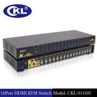 CKL 16 Port USB Auto HDMI KVM Switch PC Monitor Keyboard Mouse Switcher for Computer Server DVR NVR Support 1080P 3D CKL-9116H