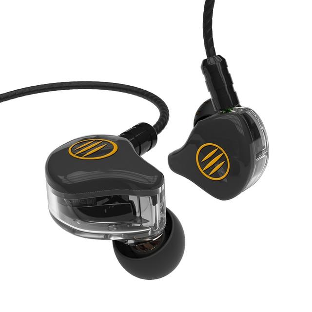 BGVP DS1 2DD+1BA Hybrid Triple Driver In-Ear Earphones 4 Core OCC Detachable MMCX Cable Audiophone IEMs