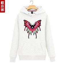 Butterfly wings Hoodies 2016 new autumn and winter long-sleeved Cartoon male and female students Korean plus velvet hooded