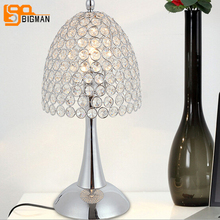 New Design Crystal Table Lamps Modern Chrome Crystal Light For Living Room  And Bedroom