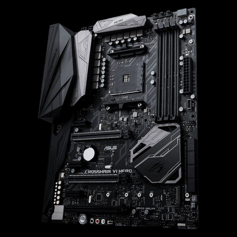 ASUS ROG CROSSHAIR VI HERO X370 ATX Motherboard DDR4 Memory M.2 USB3.1 Computer Mainboard With RGB LED Effect