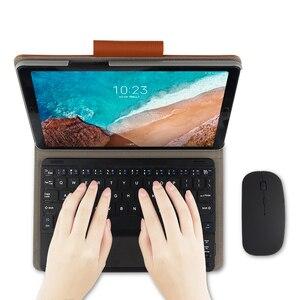 """Image 3 - Capa protetora para xiaomi mi pad 4 e 4 plus, capa de proteção, sem fio, bluetooth, teclado, couro pu, mipad4 plus 10, 10.1 """""""" estojo do tablet"""