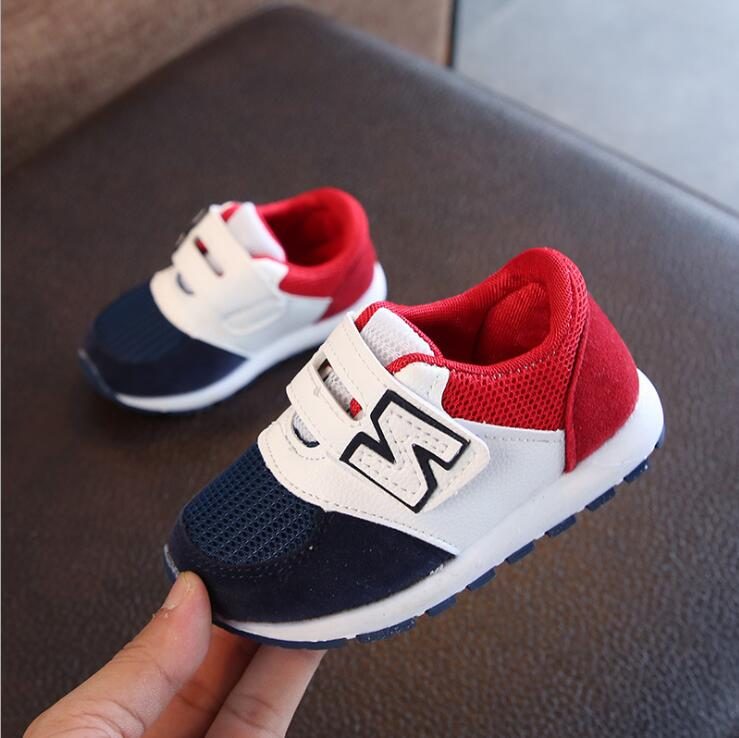 Brand Spring Autumn Boys Girls Fashion Sneakers Baby Toddler Kids Mesh Trainers Children School Sport Shoes