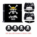 ONE PIECE series ps4 Vinyl Sticker &2pcs Controller Skins+2x LED Light bar Stickers For Sony Palystation 4 Console