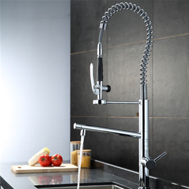 Water Tap Kitchen Brass 360 Degree With The Rotation Of The Tap Two Spouts Kitchen Faucet With Shower Head Tap everso solid brass kitchen faucet double spouts 360 degree