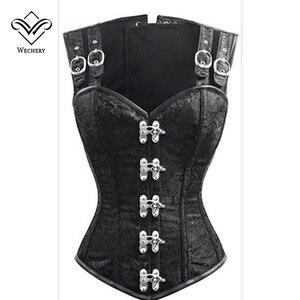 Image 4 - Espartilho steampunk espartilhos e bustiers emagrecimento gótico corsage espartilhos espartilhos sexy preto cinta espartilho aço desossamento bustier