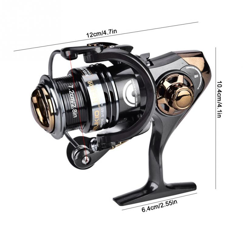 d7b70ab043f 2019 DEUKIO 5+1BB High Speed 7.1 1 Fishing Reel 2000 3000 Max Drag ...