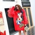 Impressão vermelho traje do estágio ds trajes bar para cantor dancer dança sexy feminino star boate mostram super star moda