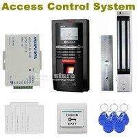 DIYSECUR Completo Teclado de Senha Fingerprint ID Card Reader 125 KHz RFID Porta Kit Controle de Acesso + Alimentação + Magnético bloqueio
