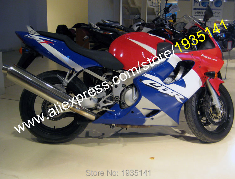 Hot Sales,For Honda CBR600 F4i 2004 2005 2006 2007 CBR 600 F4i 04 05 06 07 Red White Blue Sportbike Fairing (Injection molding)