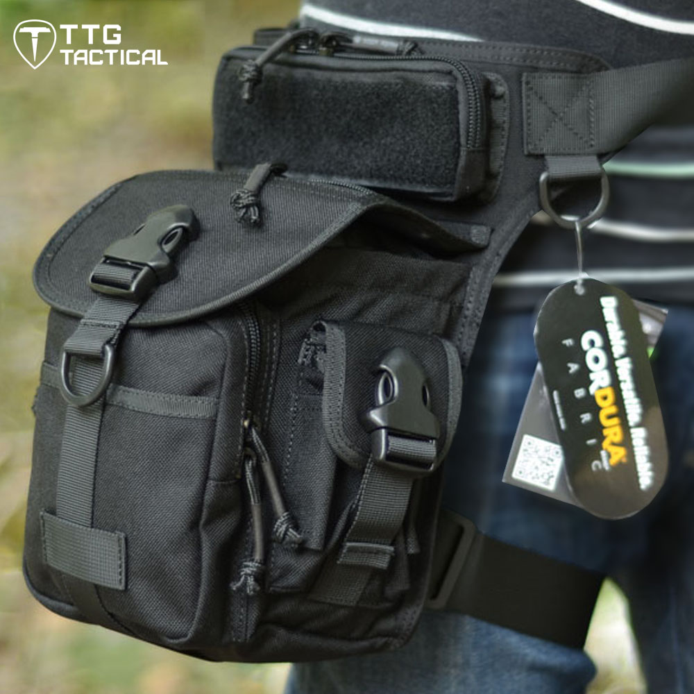 TTGTACTICAL CORDURA NYLON 1000D Multifunctional Military Leg Bags Military Drop Leg Bags Electrical Tool Thigh Bags