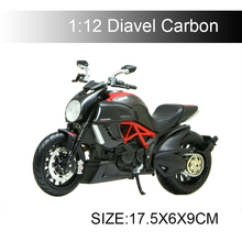 MAISTO 1:12 Diavel Carbon motorcycle model 1:12 scale Motorcycle Diecast Metal Bike Miniature Race Toy For Gift Collection saintgi lp700 gallardo super toy reventon automobili s p a miura 1 24 diecast metal miniature model gift collection car assembly