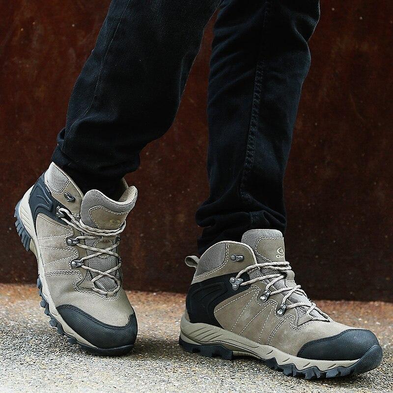 Clorts водонепроницаемые походные сапоги мужская обувь для пешего туризма замшевые кожаные уличные туфли мужские зимние кроссовки горные туф...