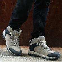 Clorts водонепроницаемые походные сапоги мужская обувь для пешего туризма замшевые кожаные уличные туфли мужские зимние кроссовки горные туфли HKM-822A/G