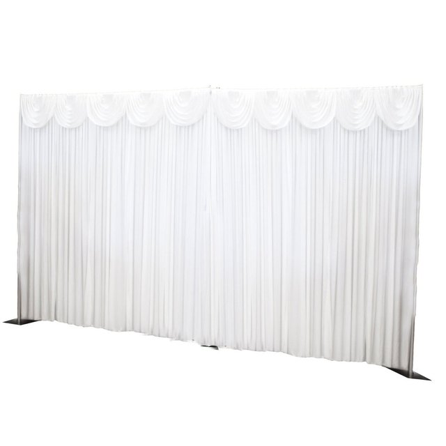 Satin White Wedding Drape Curtain Valance Swags Stage Background Party  Favor Decoration Event Party Photography Backdrop