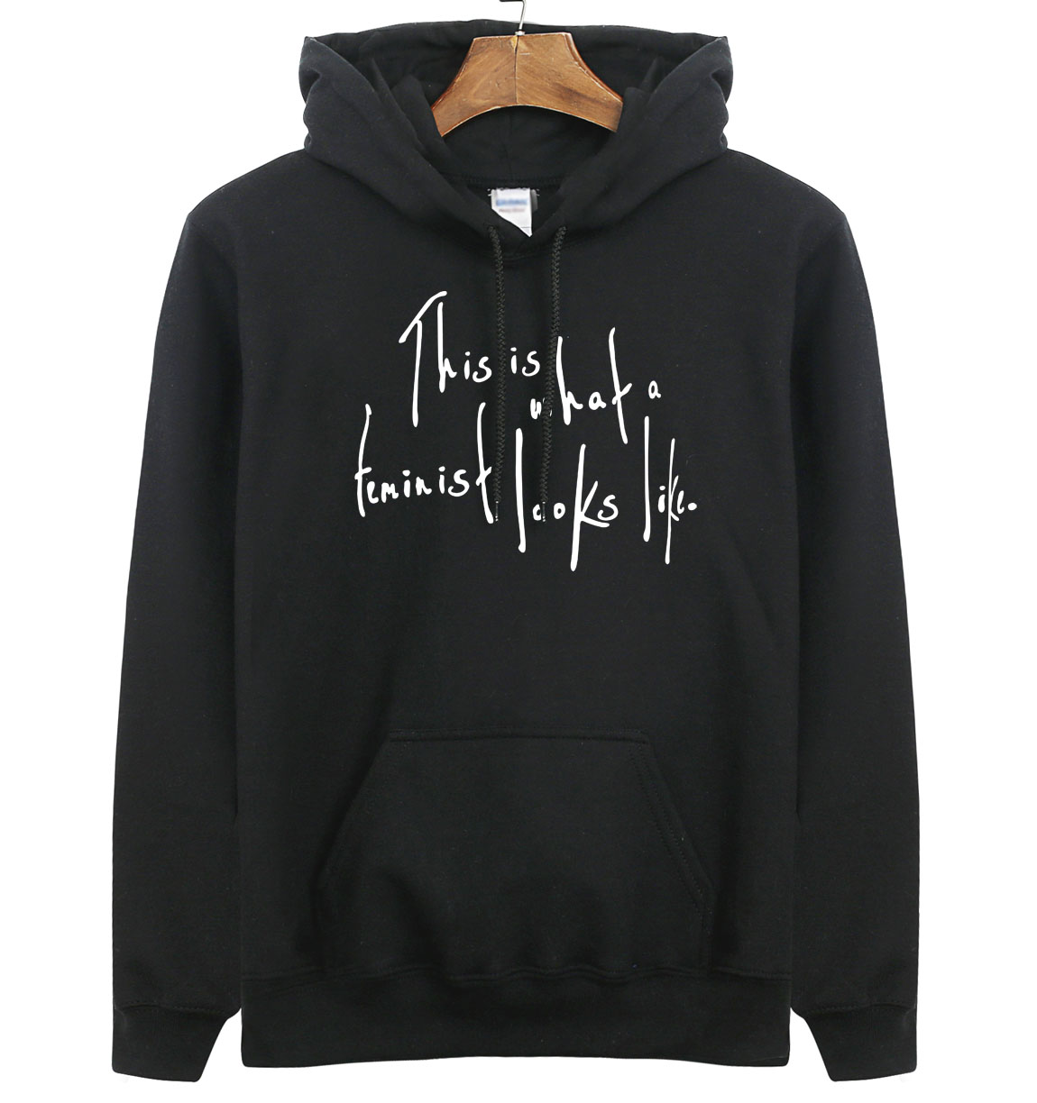 This Is What a Feminist Looks Like Funny Letter Print Sweatshirts 2019 Spring Hoody For Men Winter Fleece Hoodie Harajuku Kpop