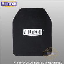 Alumina de militech & pe nij iv placa à prova de balas al2o3 óxido de alumínio nij iv suporte sozinho painel balístico nij nível 4 placa esapi