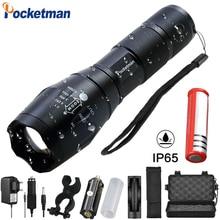Pocketman 12000 lúmenes alta potencia 5 modos XM-L T6 L2 V6 linterna LED Zoomable recargable foco antorcha por 1*18650 o 3 * AAA z92