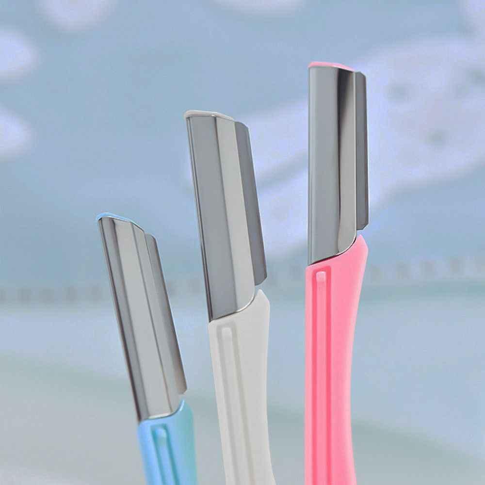 3 Pcs/set Alis Bibir Razor Pemangkas SHARP Blade Shaver Pisau Rambut Remover Facial Mini Makeup Pisau Pembentuk Alat Cukur untuk Wanita panas