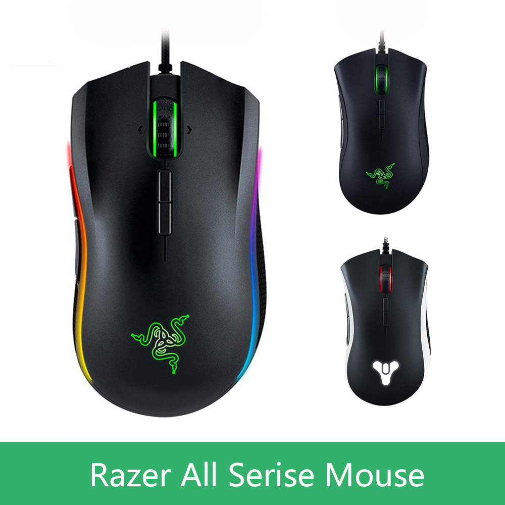 Original razer deathadder elite chroma gaming mouse for razer mamba tournament edition lancehead computer game mouse gamer Mause razer deathadder elite overwatch edition 16000dpi ergonomic wired gaming mouse chroma enabled rgb esports gaming mouse