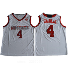 Ediwallen NC State Wolfpack College Red White 4 Dennis Smith JR. Basketball  Jerseys c8662b450