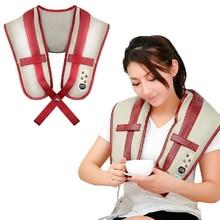 Newly Multifunction Electric Rolling Back Massage Belt Vibration Neck Massage Belt Helpful Neck and Shoulder Massage Equipment