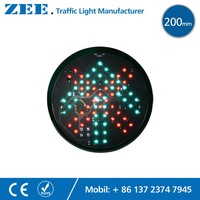 8inches 200mm Red Cross And Green Arrow LED Traffic Signal Light Round LED Module Parking Lot
