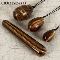 4Pcs Set Yoni Eggs Wands Tigers Eye Drilled Ben Wa Ball Eggs Jade Yoni Wands Women Body Vaginal Relax Health Care Pelvic Floor