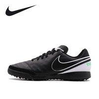 Nike Orijinal Yeni Geliş Resmi TIEMPO GENIOII TF erkek Su Geçirmez Futbol Ayakkabı Spor Sneakers 819216-002