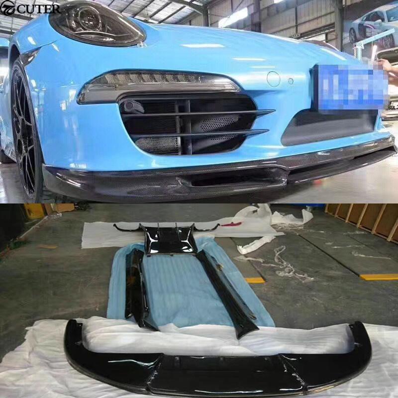 Carbon fiber front lip rear diffuser side skirts spoiler Car body kit for Porsche 911 Carrera 991 GT3 Vorsteiner style