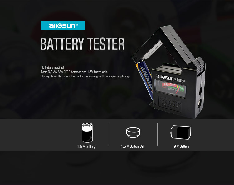 All-SUN BT1A Battery Tester Fuse Tester Practical Household Battery Tester Cell Tester