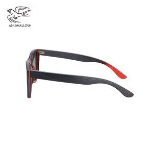 Image 3 - EINE SWALLOW MARKE DESIGN Männer Sonnenbrille Bambus Sonnenbrille Handgemachte Holz Rahmen Polarisierte Spiegel Objektiv Klassische Gafas de sol UV400