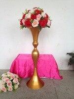 new style 79cm /31.1 Gold wedding flower vase wedding table stand wedding decoration Wedding road leads 10 pcs/lot