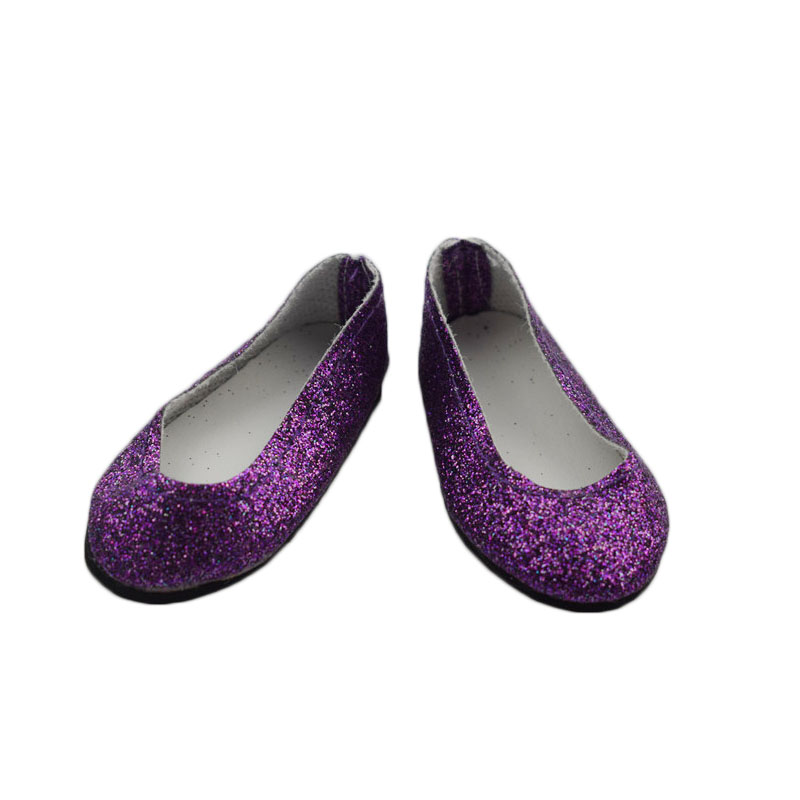 89a0b74abd01f US $1.99 |cheap Purple leather doll shoes for 18