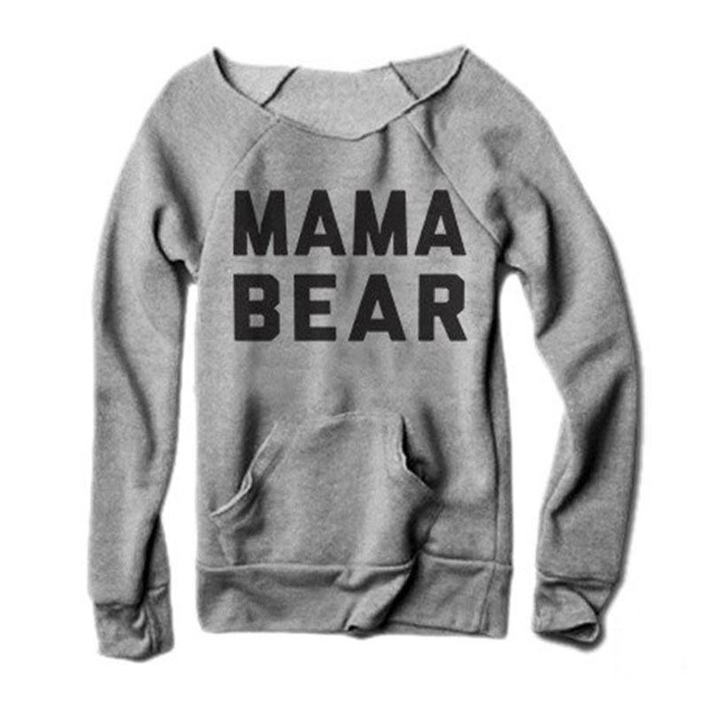 74feb6eaf Women Female T-Shirts Tops Fashion Girls Long Sleeves Letters Mama Bear  Printing O-Neck Tee T-Shirt Top Harajuku Tumblr