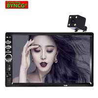 BYNCG 7018B+4 LEDs Rear View Camera Car Radio 2 Din 7 inch Auto Audio Stereo MP4 MP5 Player USB FM Bluetooth autoRadio Player