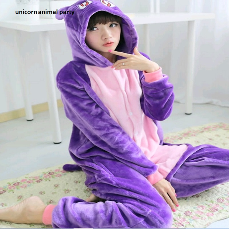 Kigurumi Anime Sailor Moon Diana Purple Luna Cat Onesies Adult - Costumes
