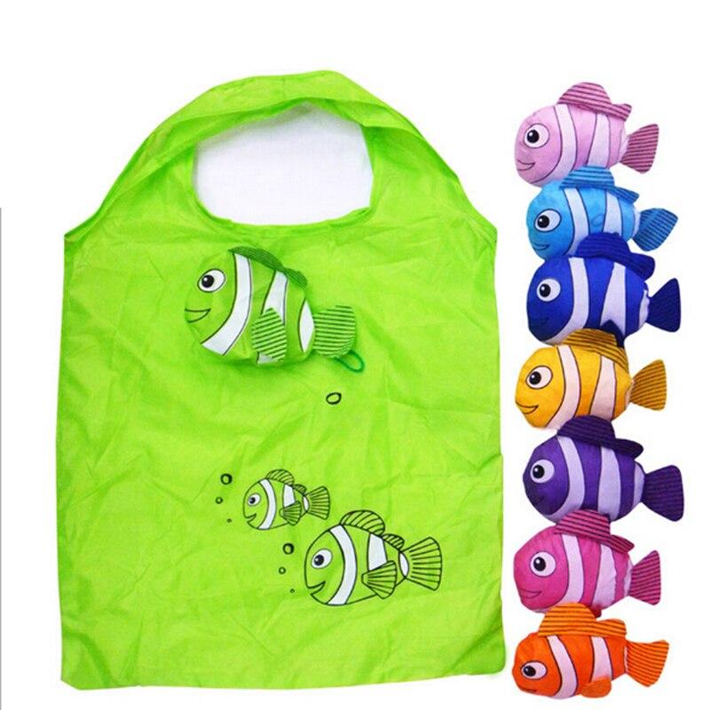1 Stücke Tropische Fische Faltbare Eco Wiederverwendbare Einkaufstaschen 38 Cm X 60 Cm Faltung Taschen Farbe Nach Dem Zufall Bestellungen Sind Willkommen.