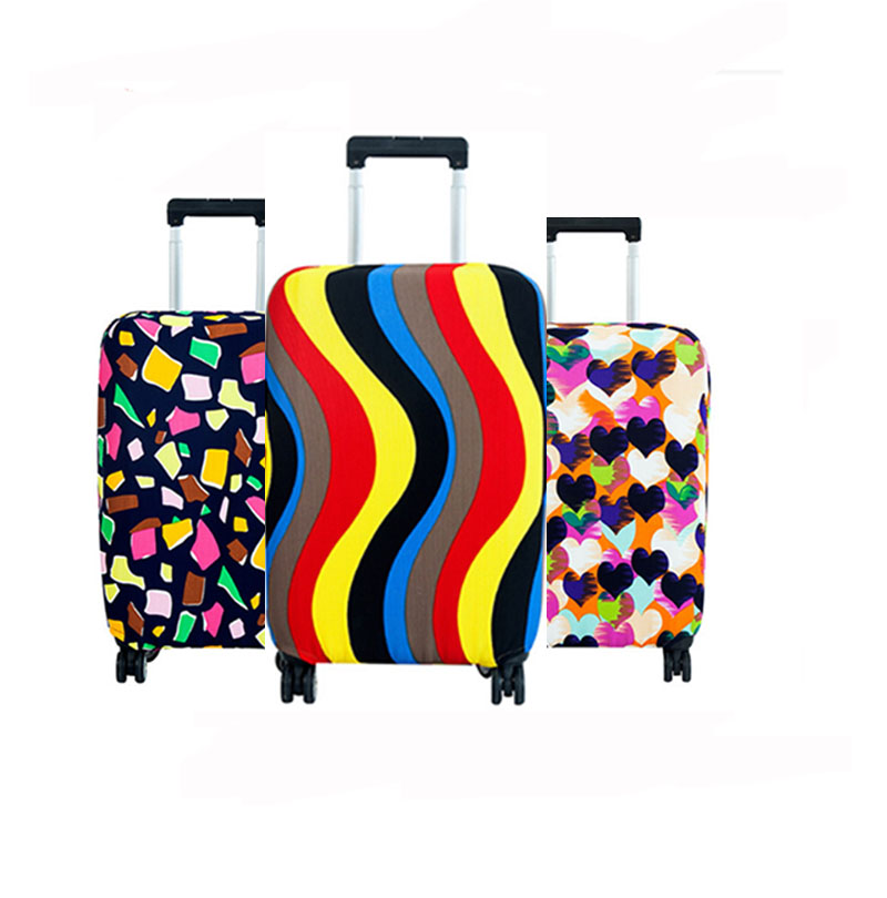 18-24 inch Colorful Fashion Elastic Travel Luggage Cover Protective Suitcase Cover Trolley case Travel Luggage Dust Cover travel accessories fashion striped suitcase protection cover 18 32 inch trolley dust cover suitcase protective cover