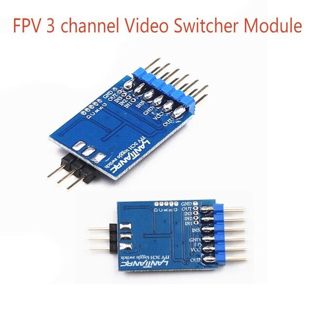 1 pc 3 canal conmutador de vídeo módulo 3 interruptor de vídeo de unidad FPV Cámara Multicopter Drones FPV 5,8G transmisor y cámara
