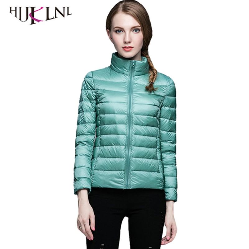 HIJKLNL Women Winter   Coat   New Ultra Light White Duck   Down   Jacket Slim Women Puffer Jacket Portable Windproof   Down     Coat   YR064